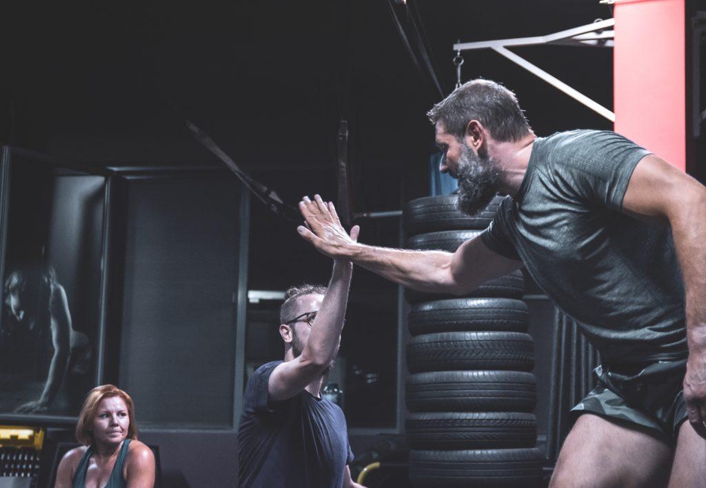 Костадин Михайлов подкрепя трениращи атлети
